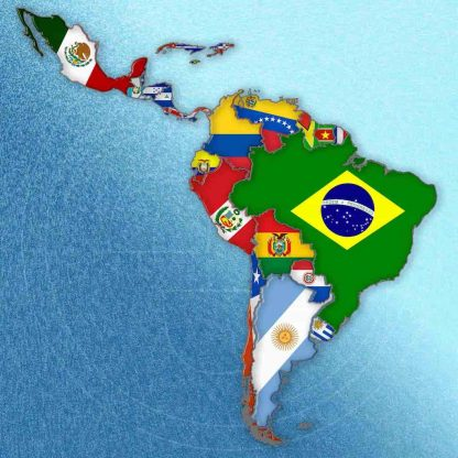 Latin America coffee subscription map and countries