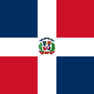 Flag of Dominican Republic Latin America coffee