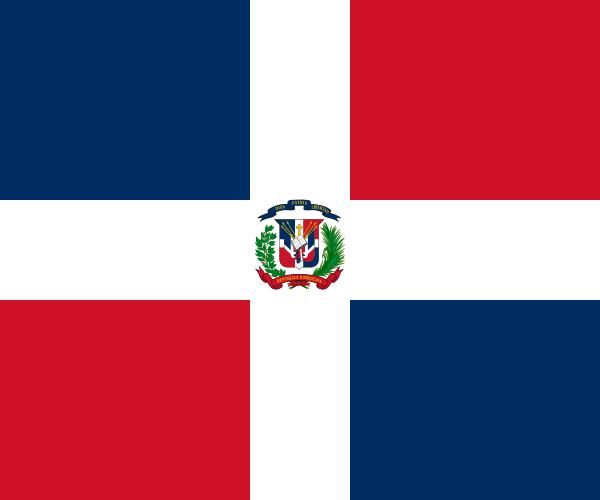 Flag of Dominican Republic Latin America coffee
