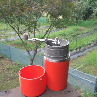 Portable all in one coffee maker Colombia farm Latin America coffee