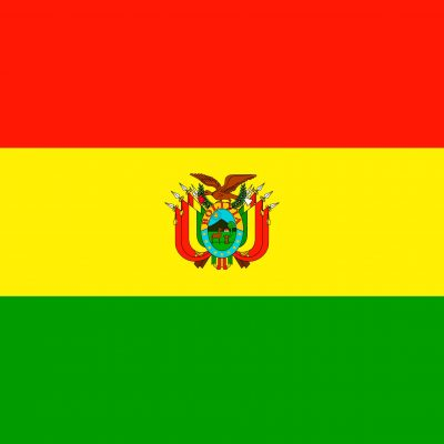 Flag of Bolivia Latin America coffee