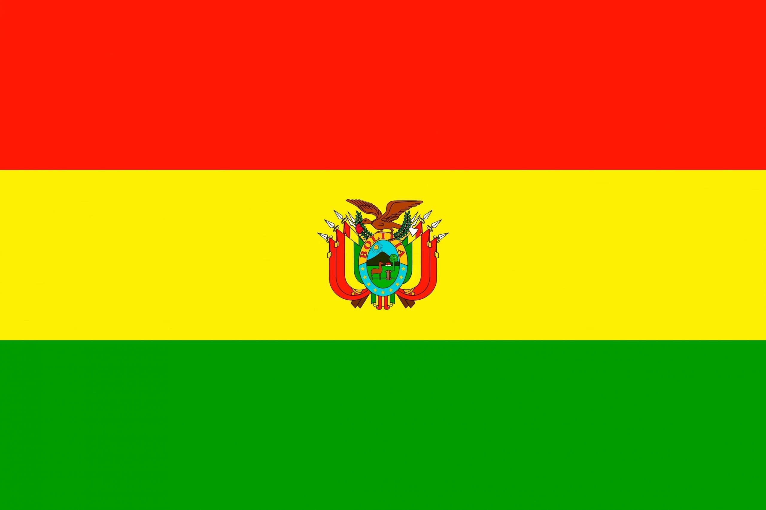 Flag of Bolivia Latin America coffee