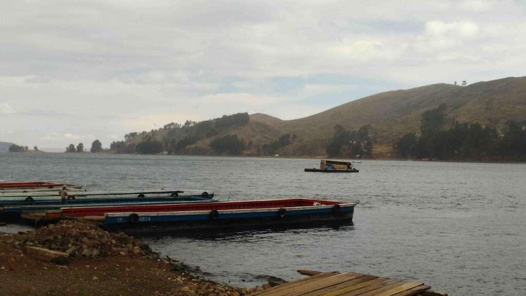Bolivia Copacabana Lake Titicaca Boats