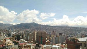 Bolivia mountains view from La Paz