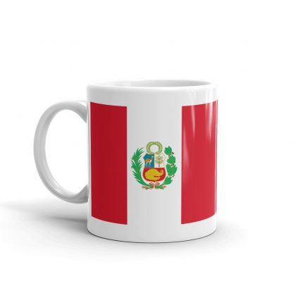 Peru flag coffee mug