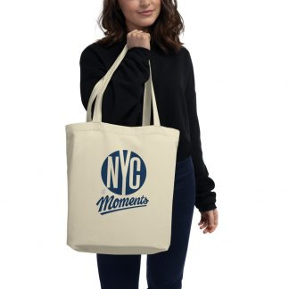 NYC Moments eco tote reusable bag oyster