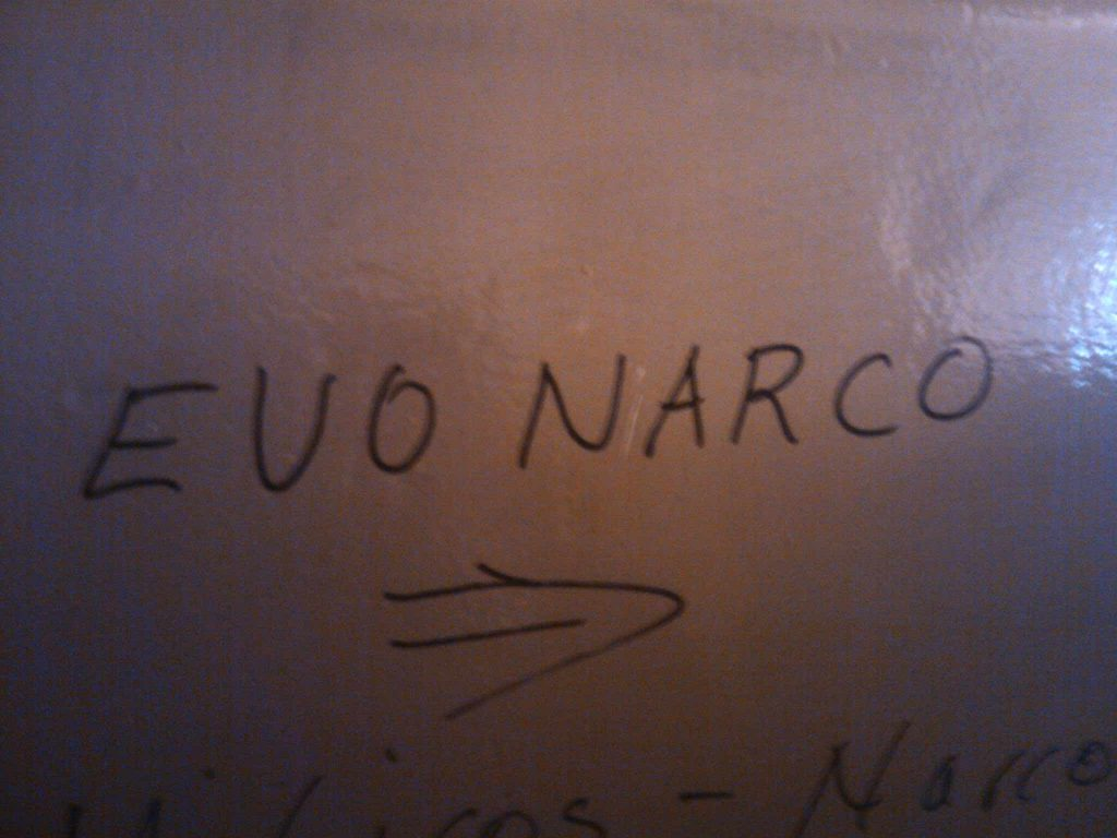 Evo narco wall sign