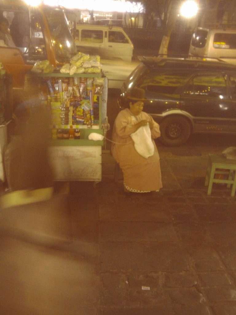"""""""Cholita"""" street vendor La Paz, Bolivia"""
