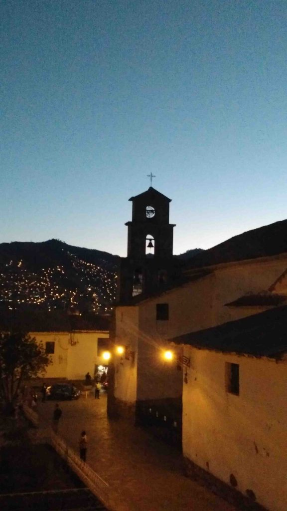 Church at sunset Cusco, Peru